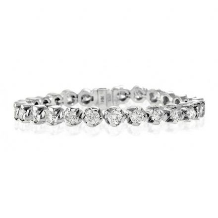 18K White Gold 9.14ct Diamond Bracelet, H1114